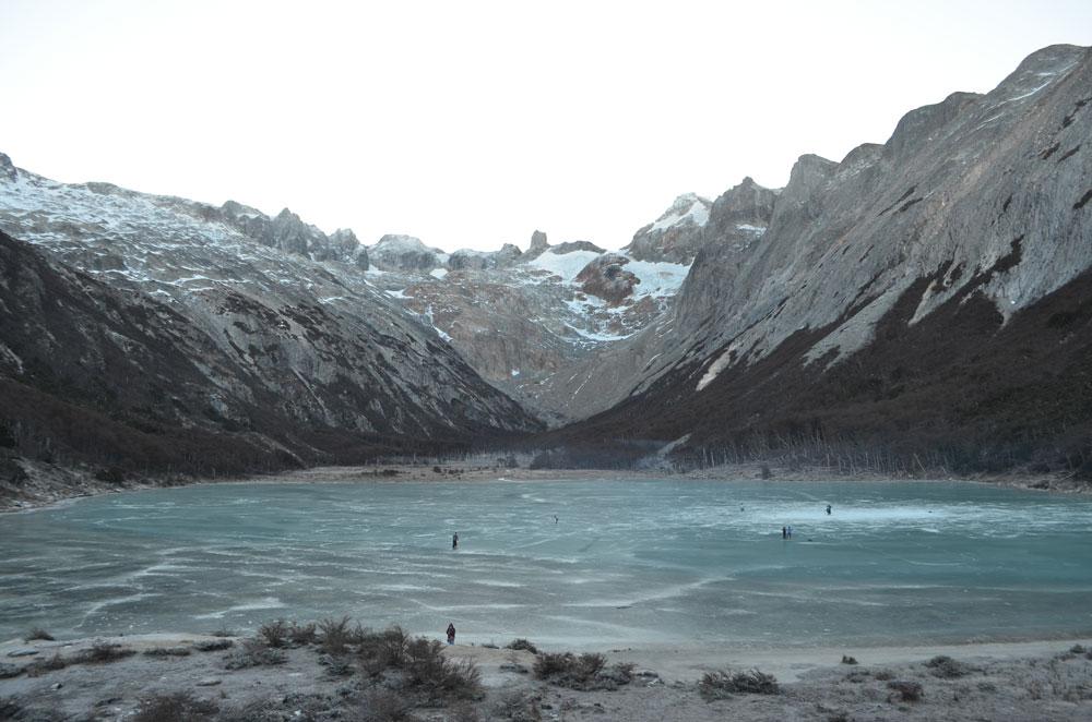 Laguna Esmeralda en invierno